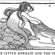 Picture Of Little Mermaid And The Star
