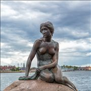 Picture Of Little Mermaid Statue In Copenhagen