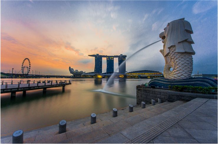 Picture Of Merlion Statue At Merlion Park Singapore