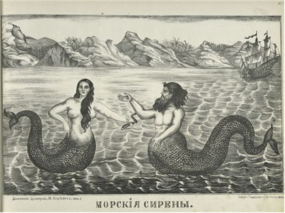 Picture Of Mermaid And Merman 1866