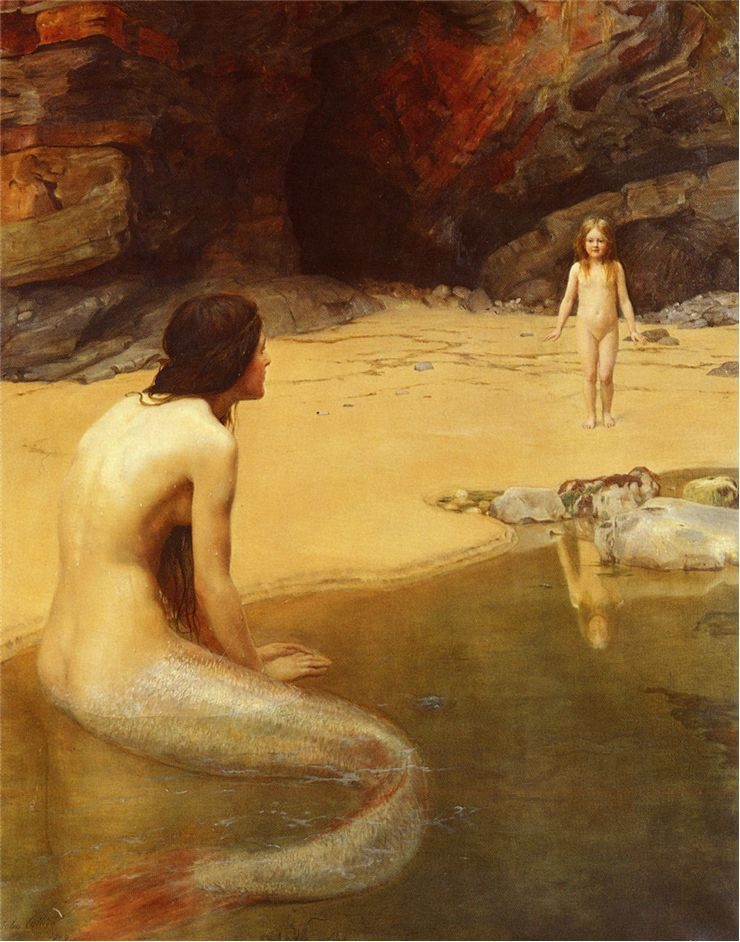 Picture Of Mermaid And The Land Baby