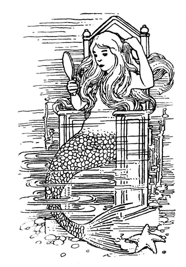 Picture Of Mermaid And The Mirror