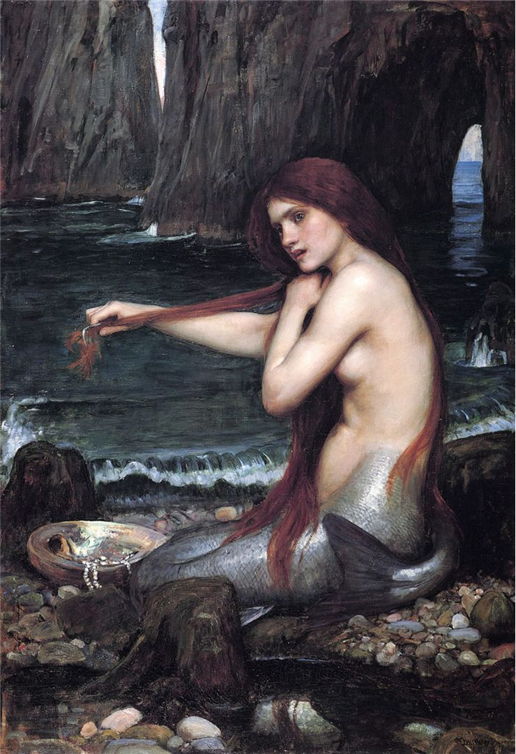 Picture Of Mermaid By John William Waterhouse