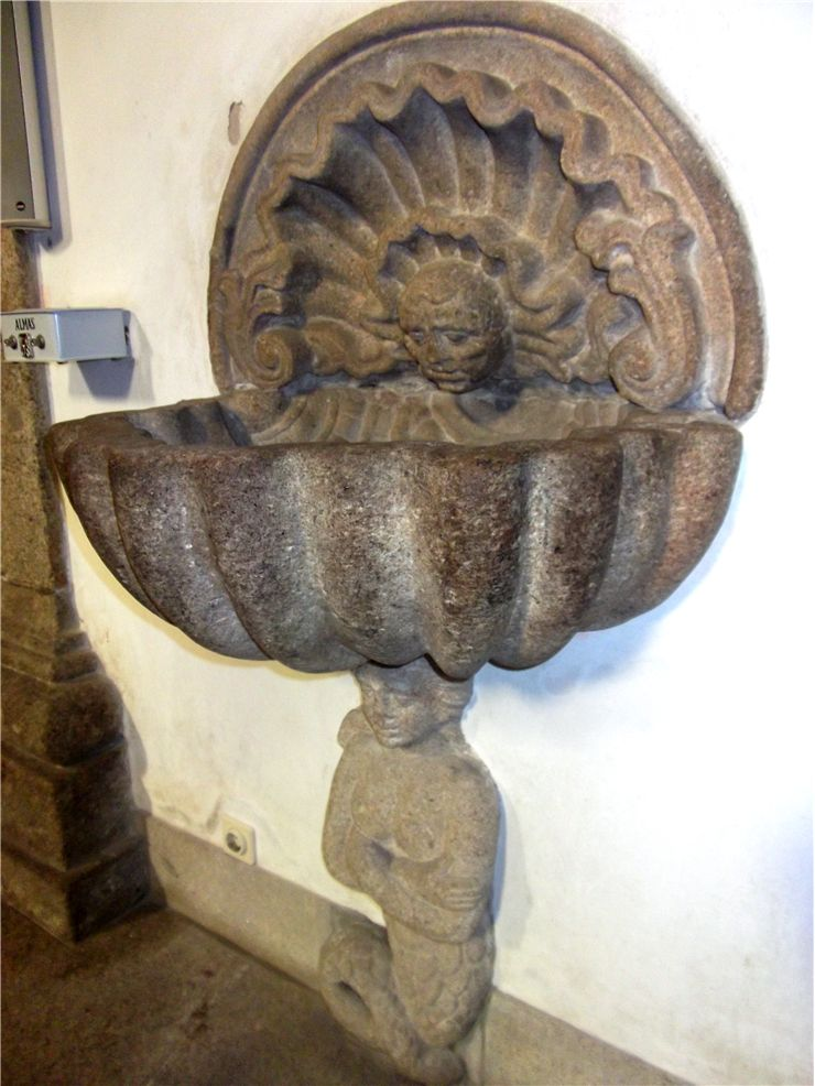 Picture Of Mermaid On Sculpture In Matriz Church Of Povoa De Varzim