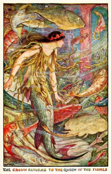 Picture Of Mermaids In Andrew Lang's Fairy Books