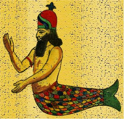 Picture Of Merman As Semitic God Dagon