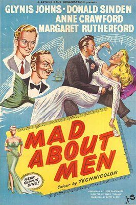 Picture Of Poster For Mad About Men 1954