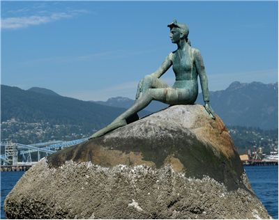 Picture Of Statue Similar To The Little Mermaid In Vancouver