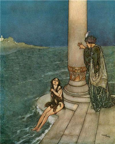 Picture Of The Little Mermaid And The Prince By Edmund Dulac