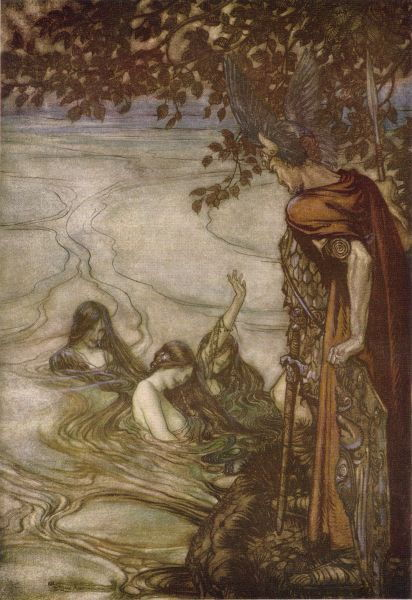 Picture Of The Rhine Maidens Warn Siegfried