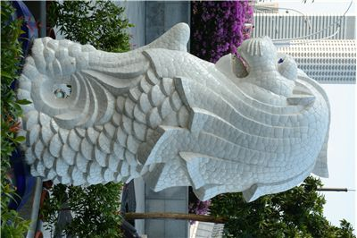 Picture Of The Smaller Merlion Statue At Merlion Park Singapore